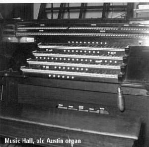 Cincinnati Music Hall – 1878 Hook & Hastings -1922 – Austin Organ